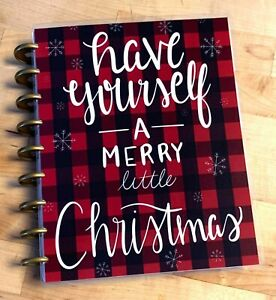 Have Yourself A Merry Little Xmas Plaid Cover Set 4 Use With The Happy Planner