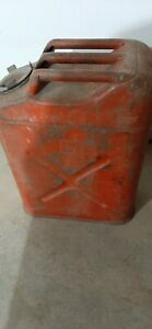 Vintage Dot 5 Usmc 5 Gallon Gas Can Fuel Blitz Jerry Jeep Red Military
