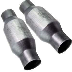 Two 410250 2 5 Universal High Flow Performance Catalytic Converter Pam