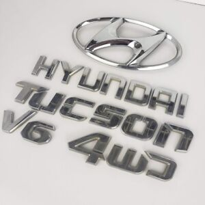 2005 2009 Hyundai Tucson V6 4wd Rear Lid Trunk Emblem Badge Logo Set