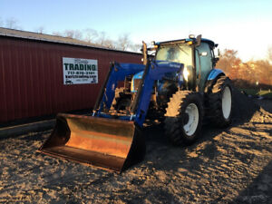 2012 New Holland T6050 Delta 4x4 125hp Farm Tractor W Cab Loader Clean