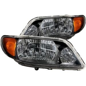 Anzo Fits 2001 2003 Mazda Protege Crystal Headlights Black