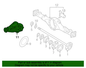 Oem Toyota Tundra 2005 2006 Rear Differential Assembly 11 In Diagram Only