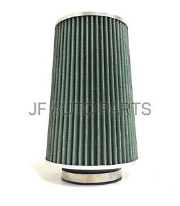 10 h 3 5 id High Performance Intake High Flow Cone Green Air Filter