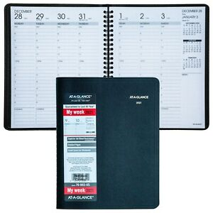 2021 At a glance 70 865 Weekly Appointment Book With Full Weekend 6 7 8 X 8 3 4