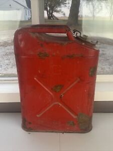 Vintage Dot 5 Usmc 5 Gallon Gas Can Fuel Blitz Jerry Jeep Red Military 5 91