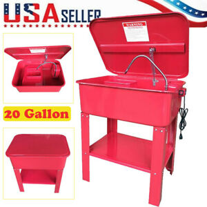 20 Gallon Automotive Parts Washer Cleaner Heavy Duty Electric Solvent Pump R7