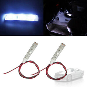 2pcs High Power 5050 Smd White Led Strips For Car Interior Atmosphere Lighting