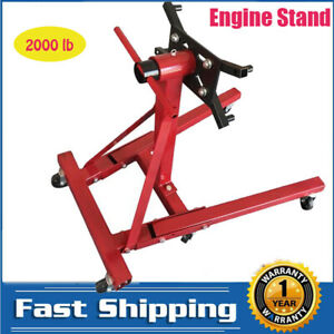2000 Lb Engine Stand Folding Motor Hoist Dolly Mover Auto Repair Jack Mc