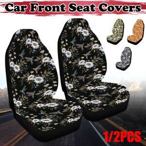 1 2pcs Car Front Seat Covers Washable Dog Pad Mat Cushion For Auto Suv Trucks
