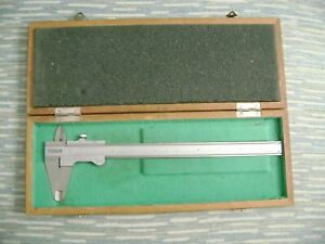 Vintage Modern Tools Caliper With Wood Box