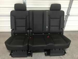 2007 2020 Tahoe Yukon Escalade 2nd Second Row Jet Black Bench Seat Complete