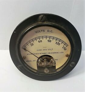 Vintage Weston Electrical Instrument Corp Model 301 Volts Gauge Meter