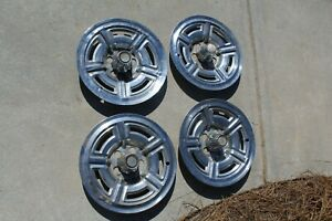 Set Of 4 15 5 Hole Ford Galaxy 64 Hubcaps