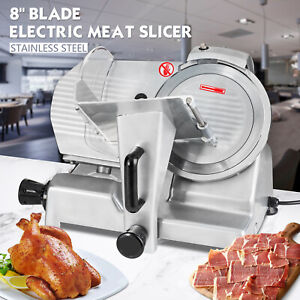 8 Electric Food Meat Cheese Slicer Cutter Blade 240w Heavy Steel Commercial