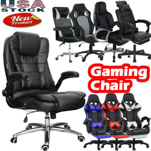 High Back Office Chair Gaming Chair Executive Task Ergonomic Computer Desk Home