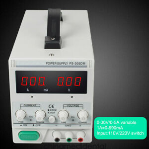 Ps 305dm 30v 5a Variable Linear Dc Power Supply 110v Switching For Lab Equipment
