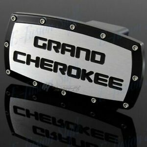 For Jeep Grand Cherokee Hitch Cover Plug Cap 2 Trailer Tow Receiver Black Frame