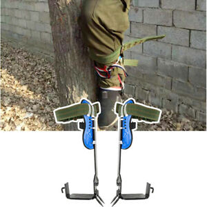 New Usa 1 Pair 2 Gears Adjustable Tree Climbing Spike Set With 100kg 220lbs Load
