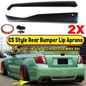 Carbon Fiber Look Rear Bumper Lip Aprons For Subaru Impreza Wrx Sti 2011 2014
