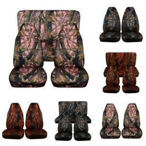 Camouflage Car Seat Cover Camo Carseat Baby Fitted For Suv Off Road Universal W