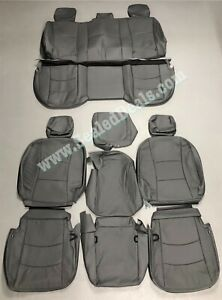 2013 2014 2015 2016 2017 Ram 1500 Gray Katzkin Leather Seat Replacement Covers
