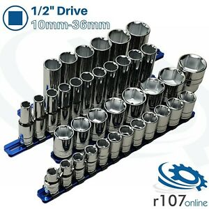 Blue Point 1 2 Shallow Deep Sockets 10mm 32mm 36mm As Sold By Snap On