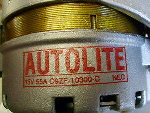 1969 Mustang Ac 428 Cj Autolite Alternator C9zf 10300 C