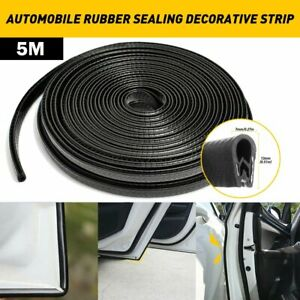 16ft Car Rubber Seal Trim Molding Strip Door Edge Lock Protector All Weather D
