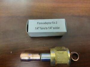Flare Adapter 1 4 Flare To 1 4 Solder For Refrigeration Hvac
