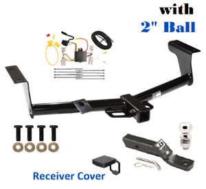 Class 3 Trailer Hitch Package W 2 Ball Cover For 2006 2012 Toyota Rav4