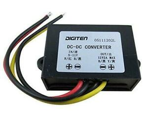Digiten Dc 6v 5 11v To 12v 2a Step Up Converter Regulator Waterproof Boost Power