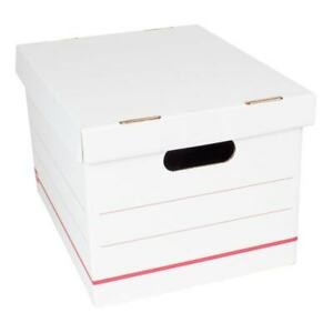 Office Depot Corrugated Storage Boxes 10 h X 12 w X 15 d Red white 12 pk