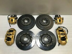 2013 2014 2015 2016 Bmw M5 F10 Carbon Ceramic Brakes Ccb Calipers And Rotors Oem