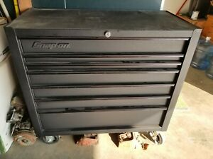 Snap On 7 Drawer Roll Cart Tool Box Flat Black Kra4107fpot See Description