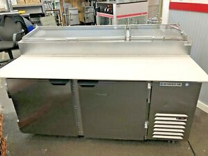 Beverage air Dp67 cl 67 2 Door clear Lid Refrigerated Pizza Prep Table