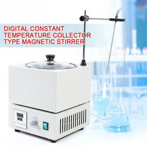 Df 101s Magnetic Stirrer With Heating Plate Digital Hotplate Mixer Stir Bar