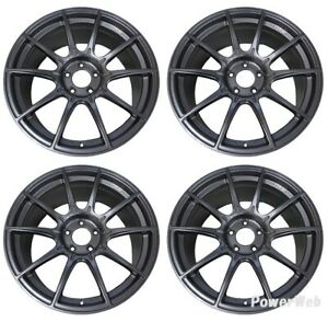 Ssr Gt X01 19x8 5 5x114 3 45 38 Dark Silver From Japan 4 Rims Jdm Wheels