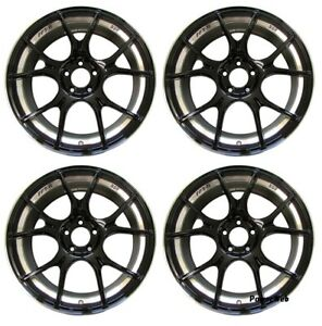 Ssr Gt X02 19x8 5 5x120 38 Gloss Black From Japan 4 Rims Jdm Wheels