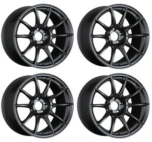 Ssr Gt X01 19x9 5 5x114 3 35 Flat Black From Japan 4 Rims Jdm Wheels