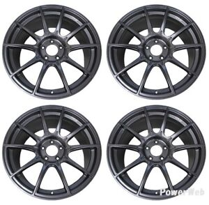 Ssr Gt X01 19x8 5 5x112 45 Dark Silver From Japan 4 Rims Jdm Wheels