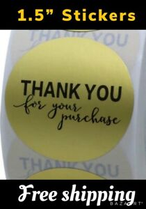 200 Stickers 1 5 Thank You For Your Purchase Matte Gold Foil 1 5 Inch 38mm