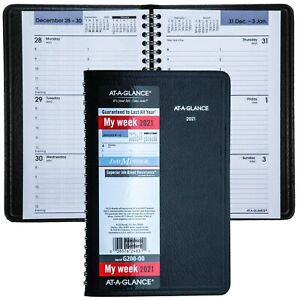 2021 At a glance Dayminder G200 00 Weekly Appointment Book 4 7 8 X 8