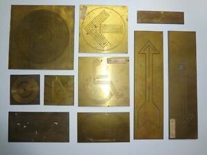 Lot Of 10 New Hermes Brass Ornamentals Other Templates Lot 2