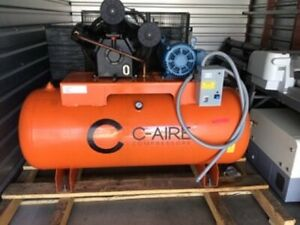 C aire A100h120 3460 10 Hp 460 Volt 3 Phase 2 Stage 120 Gallon Air Compressor