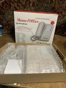 New Radioshack Home office Speakerphone 20 number Memory 43 3601 Dove Gray