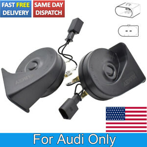 Loud Waterproof High Low Tone Pitch Snail Horn For Audi Tt Q7 A6 110 125db