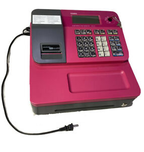 Casio Se g1 Electronic Cash Register Hot Pink With Rear Display With Keys