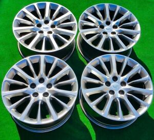 Factory Cadillac Ct6 Wheels Set 4 Rt9 2020 Genuine Gm Oem Hypersilver Cts 4763