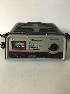 Schumacher 10 Amp Deep Cycle Battery Charger 6 12 Volt Se 1012 D Tested